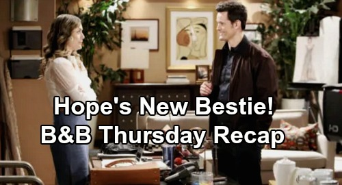 The Bold and the Beautiful Spoilers: Thursday, January 23 Recap - Hope's New Bestie - Sally's Shaking Fit - Steffy Drowning in Guilt