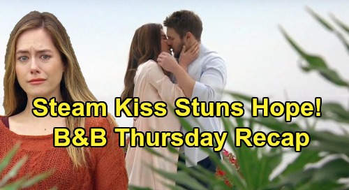 The Bold and the Beautiful Spoilers: Thursday, January 9 Recap - Hope Stunned and Disgusted By Steffy and Liam's Passionate Kiss