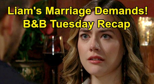 The Bold and the Beautiful Spoilers: Tuesday, January 7 Recap - Hope Manipulated By Thomas, Stunned By Liam's Marriage Demands