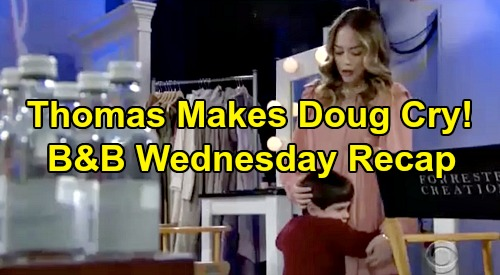 The Bold and the Beautiful Spoilers: Wednesday, February 12 Recap - Thomas Makes Douglas Cry - Sally's Death News Devastates Wyatt