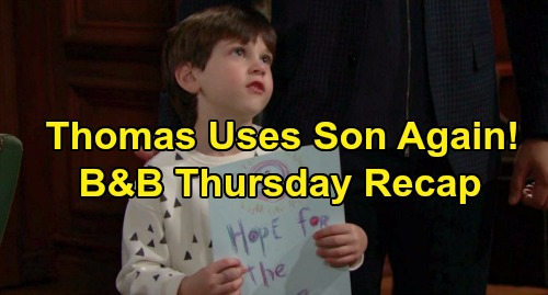 The Bold and the Beautiful Spoilers: Thursday, December 5 Recap - Thomas Uses Douglas Again - Steffy Calls Out Hope