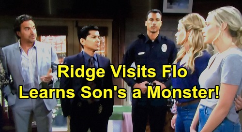 The Bold and the Beautiful Spoilers: Ridge's Jailhouse Flo Visit Brings Painful Thomas Answers - Learns Son's a Monster