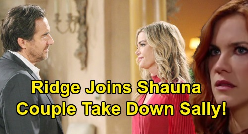 The Bold and the Beautiful Spoilers: Ridge & Shauna Reconnect After Flo's Head Injury - Will Couple Bond Taking Sally Down?