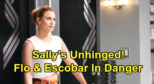 The Bold and the Beautiful Spoilers: Sally Unhinged - Flo & Dr. Escobar In Grave Danger, Will Scammer Kill To Protect Secret?