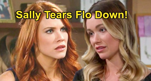 The Bold and the Beautiful Spoilers: Sally Tears Flo Down After Broken Engagement – Wyatt Breakup Brings Anger & Pain
