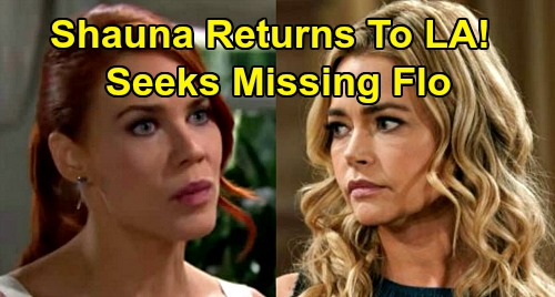 The Bold and the Beautiful Spoilers: Shauna Returns When Flo Goes Missing – Sally's In Trouble, Angry Mom Wants Answers?