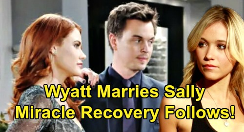The Bold and the Beautiful Spoilers: Wyatt Gives Up Flo, Marries Dying Sally - Cure Found After Wedding?