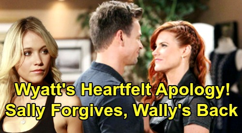 The Bold and the Beautiful Spoilers: Wyatt's Heartfelt Apology To Sally After Flo's Deceit - Wally Get Back Together
