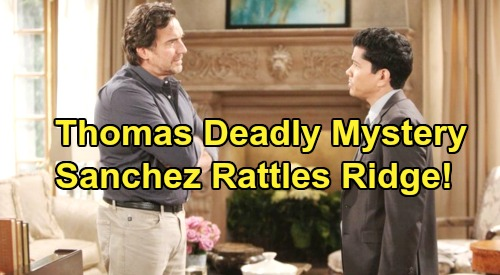 The Bold and the Beautiful Spoilers: Detective Sanchez Unravels Deadly Thomas Mystery – Ridge Knows Son Headed to Prison