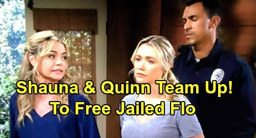 The Bold and the Beautiful Spoilers: Flo's Jailhouse Visit from Shauna – Quinn Helps Protective Mom's Desperate Freedom Plan