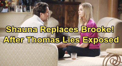 The Bold and the Beautiful Spoilers: Shauna Steps Up For Ridge, Replaces Brooke After Lies About Thomas Exposed