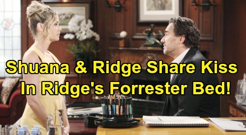 The Bold and the Beautiful Spoilers: Ridge Finds Shauna In His Bed - Passion Erupts As Couple Shares Hot Kiss