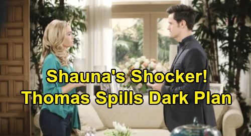 The Bold and the Beautiful Spoilers: Shauna Learns Thomas' Secret Hope Plan – Torn Between Spilling and Getting Ridge