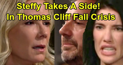 The Bold and the Beautiful Spoilers: Steffy Picks a Side in Brooke & Ridge's Cliff Fall Battle – Thomas Coma Family Crisis