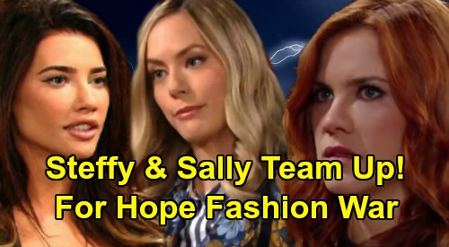 The Bold and the Beautiful Spoilers: Jacqueline MacInnes Wood Reveals Hope & Steffy Fashion War – Teams Up With Sally