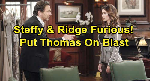 The Bold and the Beautiful Spoilers: Steffy and Ridge Put Thomas on Blast – Forced to Answer for Faked Death & Hope Saga