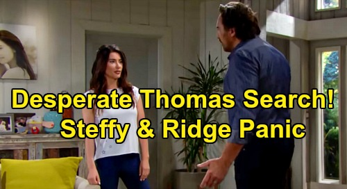 The Bold and the Beautiful Spoilers: Steffy and Ridge Fight to Help Douglas' Troubled Dad - Desperate Thomas Search Rattles Guilty Hope