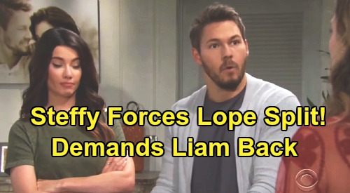 The Bold and the Beautiful Spoilers: Steffy Demands Liam and Hope Split – Ditches New Dating Plan, Determined to Reunite with Liam