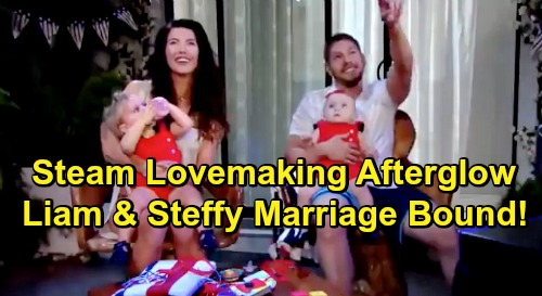 The Bold and the Beautiful Spoilers: Liam and Steffy's Lovemaking Afterglow – Steam Moves Towards Marriage as Passion Grows