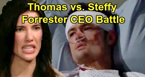 The Bold and the Beautiful Spoilers: Thomas vs. Steffy, Forrester CEO Battle Erupts – Sibling Rivalry Nasty After Beth Drama