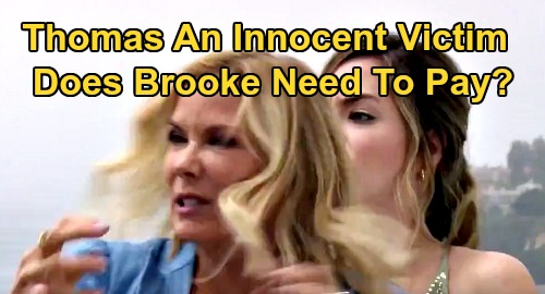 The Bold and the Beautiful Spoilers: Brooke Pushed Thomas Over The Cliff For Nothing – Hope's Mom Now A Villain?
