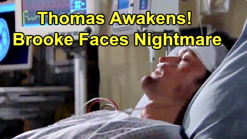 The Bold and the Beautiful Spoilers: Thomas Awakens from Coma – Takes Brooke Down for Attempted Murder?