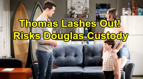 The Bold and the Beautiful Spoilers: Thomas Lashes Out At Douglas - Abusive Dad Crosses The Line, Risks Custody Of Son