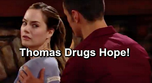 The Bold and the Beautiful Spoilers: Hope Is Thomas' Next Drugging Victim – Obsessed Groom Insists on Consummating Marriage?