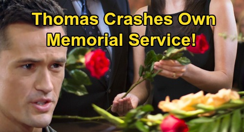 The Bold and the Beautiful Spoilers: Thomas Crashes Own Memorial Service – Shocks Hope as Loved Ones Gather to Mourn His 'Death'?