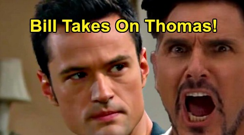 The Bold and the Beautiful Spoilers: Bill's Dark Side Returns to Take on Thomas – Liam and Wyatt Burned, 'Dollar Bill' Strikes Back?