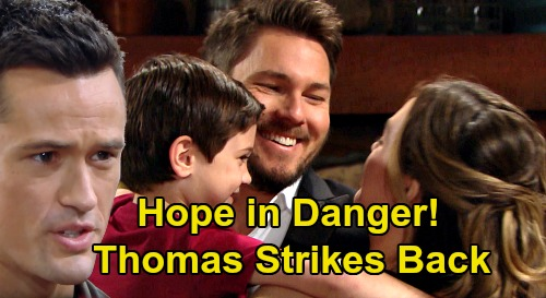 The Bold and the Beautiful Spoilers: Hope in Danger as Bitter Thomas Strikes Back – Love Is Gone, Now It's All About Revenge?