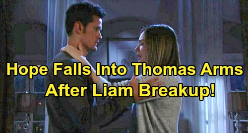 The Bold and the Beautiful Spoilers: Hope Falls Into Thomas' Arms After Lope Breakup - Turns To Liam's Enemy For Comfort