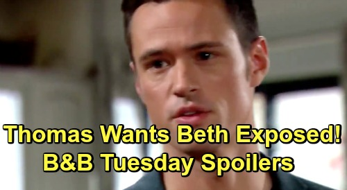 The Bold and the Beautiful Spoilers: Tuesday, June 11 – Thomas Insists On Spilling Baby Beth Truth – Zoe Blasts Xander for Disloyalty