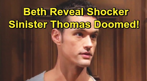 The Bold and the Beautiful Spoilers: Thomas Pays the Price After Beth Reveal – Will He Go to Prison or Is Death Inevitable?