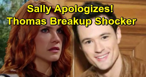 The Bold and the Beautiful Spoilers: Sally Offers Thomas Surprising Apology – Breakup Story Twist Revealed