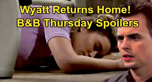 The Bold and the Beautiful Spoilers: Thursday, April 23 - Sally & Penny Panic, Wyatt Returns Home - Walks In On Unconscious Flo