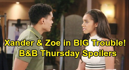 The Bold and the Beautiful Spoilers: Thursday, August 15 - Bill's Heartwarming Beth Visit - Xander & Zoe Face Serious Consequences
