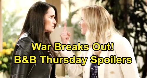 The Bold and the Beautiful Spoilers: Thursday, January 16 - Brooke & Quinn Declare War, Epic Showdown - Katie's Shocking Request