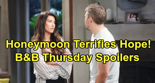 The Bold and the Beautiful Spoilers: Thursday, July 25 - Liam Hears Adoption Details - Thomas Terrifes Hope With Honeymoon Plans