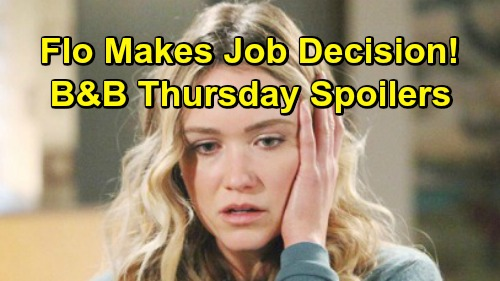 The Bold and the Beautiful Spoilers: Thursday, May 2 - Flo Decides On Hope's Job Offer - Xander Quizzes Zoe About Secret