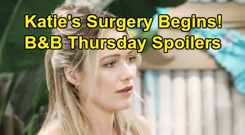 The Bold and the Beautiful Spoilers: Thursday, October 10 - Transplant Surgery Underway - Wally Babysit, Consider Having a Baby