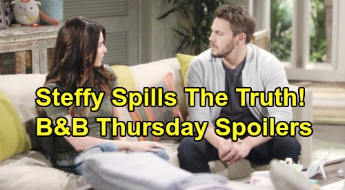 The Bold and the Beautiful Spoilers: Thursday, October 17 - Thomas & Zoe's Encounter - Steffy Gets Honest With Liam About Feelings