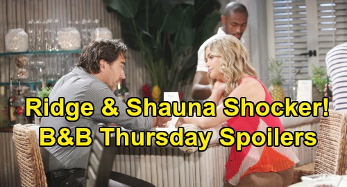 The Bold and the Beautiful Spoilers:Thursday, September 12 - Ridge Walks Out On Brooke After Epic Fight, Meets Shauna at Bikini Bar