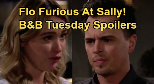 The Bold and the Beautiful Spoilers: Tuesday, April 7 - Flo Sees Dr. Escobar's Fashion Sketches, Learns Sally Blackmailing Wyatt