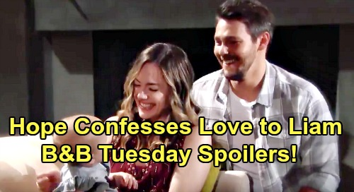 The Bold and the Beautiful Spoilers: Tuesday, August 13 - Hope Confesses Love To Liam - Brooke & Ridge Battle Over Thomas