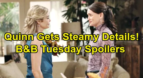 The Bold and the Beautiful Spoilers: Tuesday, December 3 - Quinn Gets Shauna's Steamy Ridge Details - Wyatt's Shocking Declaration