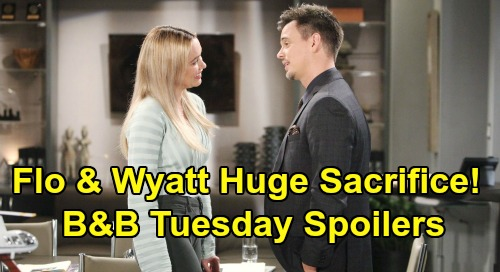 The Bold and the Beautiful Spoilers: Tuesday, February 25 - Wyatt & Flo Make The Ultimate Sacrifice - Katie's Mission To Save Sally's Job