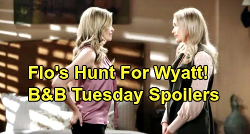 The Bold and the Beautiful Spoilers: Tuesday, January 14 - Steffy & Sally Clash - Shauna Starts Flo's Fight For Wyatt - Katie Calls Meeting