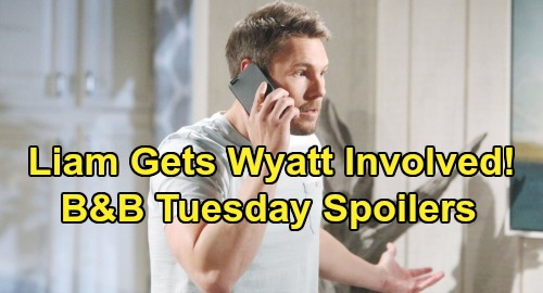 The Bold and the Beautiful Spoilers:Tuesday, July 23 - Liam Asks Wyatt To Question Flo - Thomas Uses Douglas To Get Hope In Bed