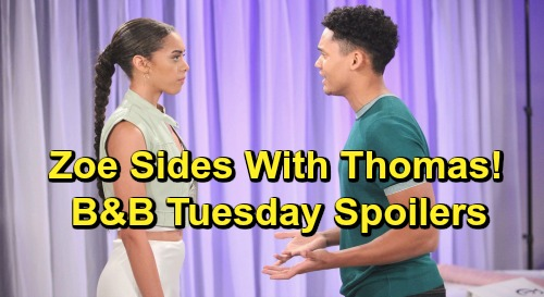 The Bold and the Beautiful Spoilers: Tuesday, July 9 - Liam's Stunned By Hope Engagement - Zoe Shocks Xander By Defending Thomas